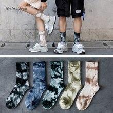 Новинка модные парные мужские и женские носки хлопковые цветные