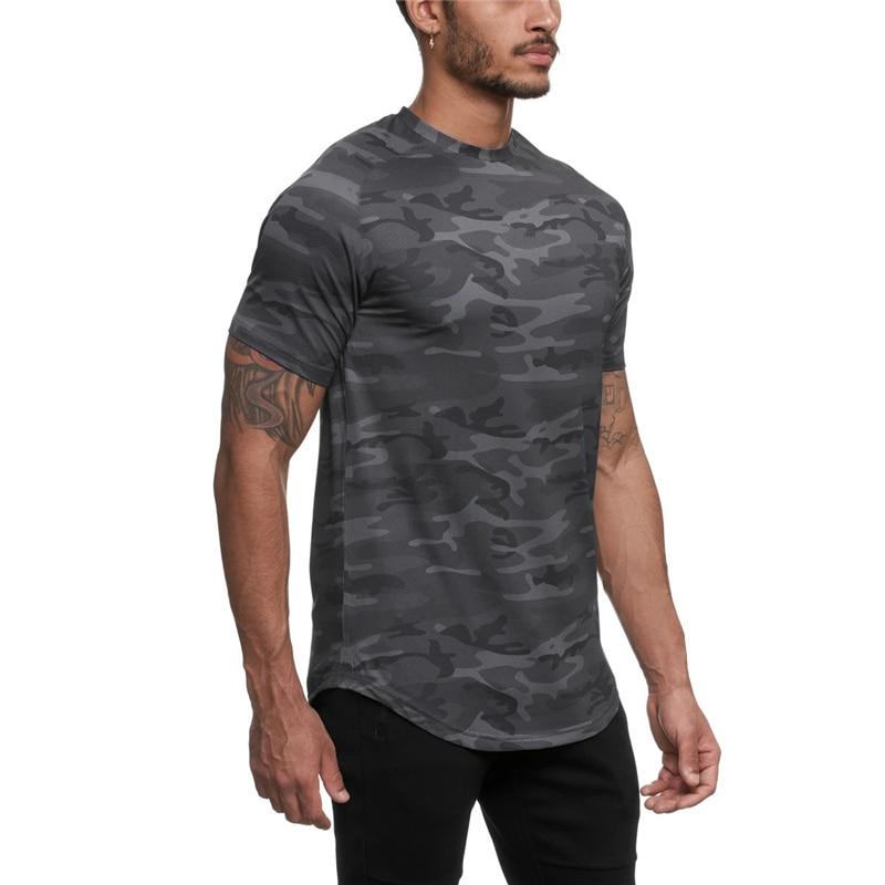 Permalink to 2020 Camo Sport Shirt Men Short Sleeve Workout Gym TShirt Men Compression Slim Fit Running Tshirt Men Fitness Tops Sport T Shirt