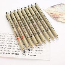 JIANWU scriptliner Japón Sakura rotulador 0.5 0.3 0.8 Varios tamaños de Rosca pluma de dibujo del Color lote suministros de Pintura