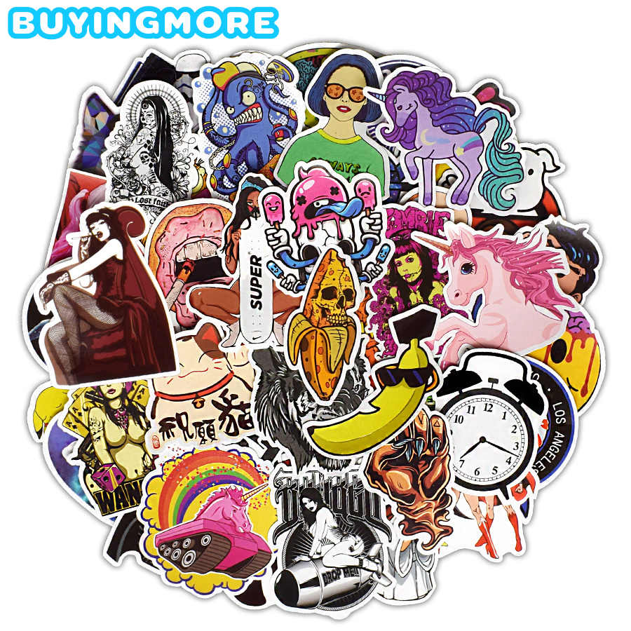 500Pcs Mixed Car Stickers Bicycle Luggage Decal Graffiti Patches Bumper Stickers