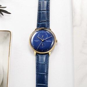 Image 3 - Men Watch Fantor Luxury Casual Leather 2019 Chronograph Quartz Waterproof Mens Wristwatch Top Brand Man Clock Watches for Men