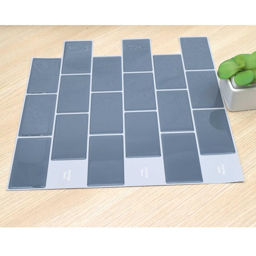 Pared 3D Subway ladrillo cocina azulejos pegatinas 1 pieza vinilo decoración del hogar cocina auto adhesivo papel pintado cáscara y Palo impermeable caliente
