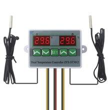 цена на Incubator controller Intelligent Digital Dual Thermostat Temperature Controller Regulator Temp. Switch with Dual Sensor