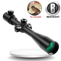 Bestsight 10 40X50 Tactical Optical Sniper Riflescope Long Eye Relief Rifle Scope Shotgun Sight Pistola Aria Compressa Hunting