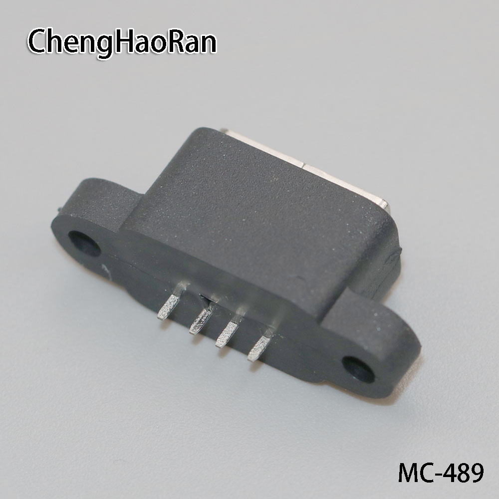 ChengHaoRan 2PCS/lot Waterproof USB 2.0 Charging Data Tail Plug-in USB Built-in Interface Port Connector Plug Jack Socket