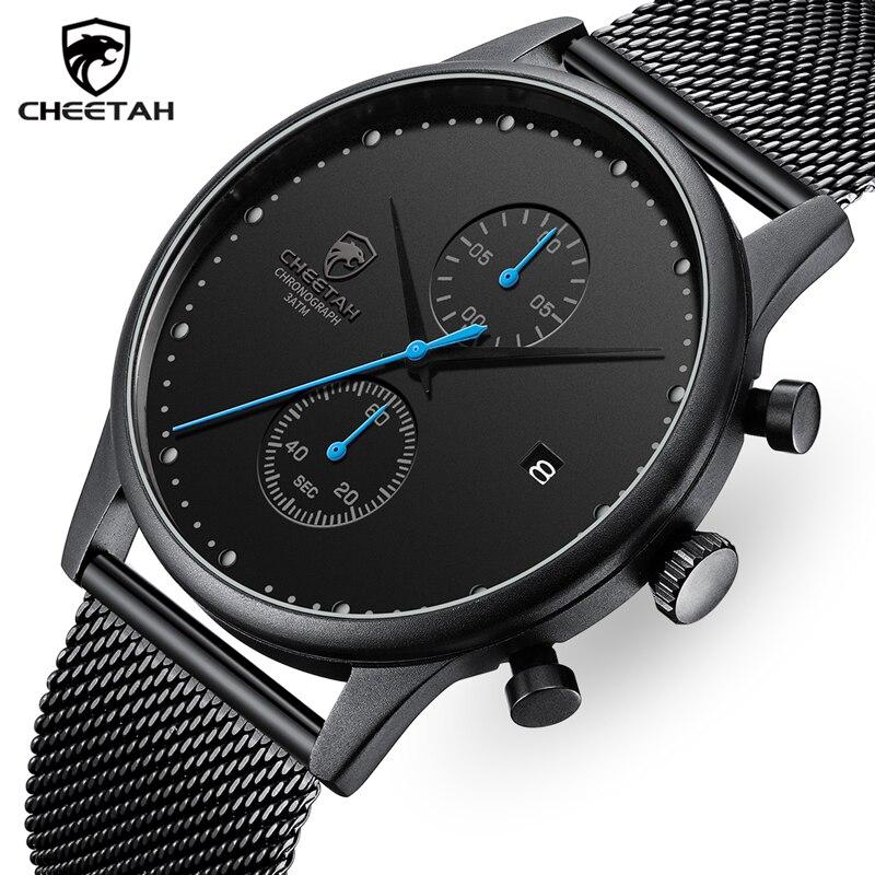 CHEETAH Top Brand Mens Quartz Watch Fashion Luxury Business Watches For Men Casual Waterproof Date Wrist Watch Relogio Masculino