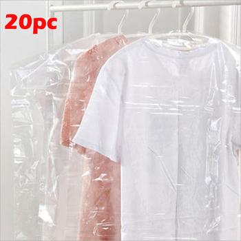 20 sztuk przezroczyste pokrowce na ubrania sukienka ubrania pokrowce na ubrania pyłoszczelna przechowywanie plastikowy ochraniacz tanie i dobre opinie faroot Dust cover Stałe Nowoczesne