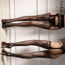 Nylon Stockings Underwear Garter Knee-Socks Women's Sexy Thighs Interest Hollow Solid