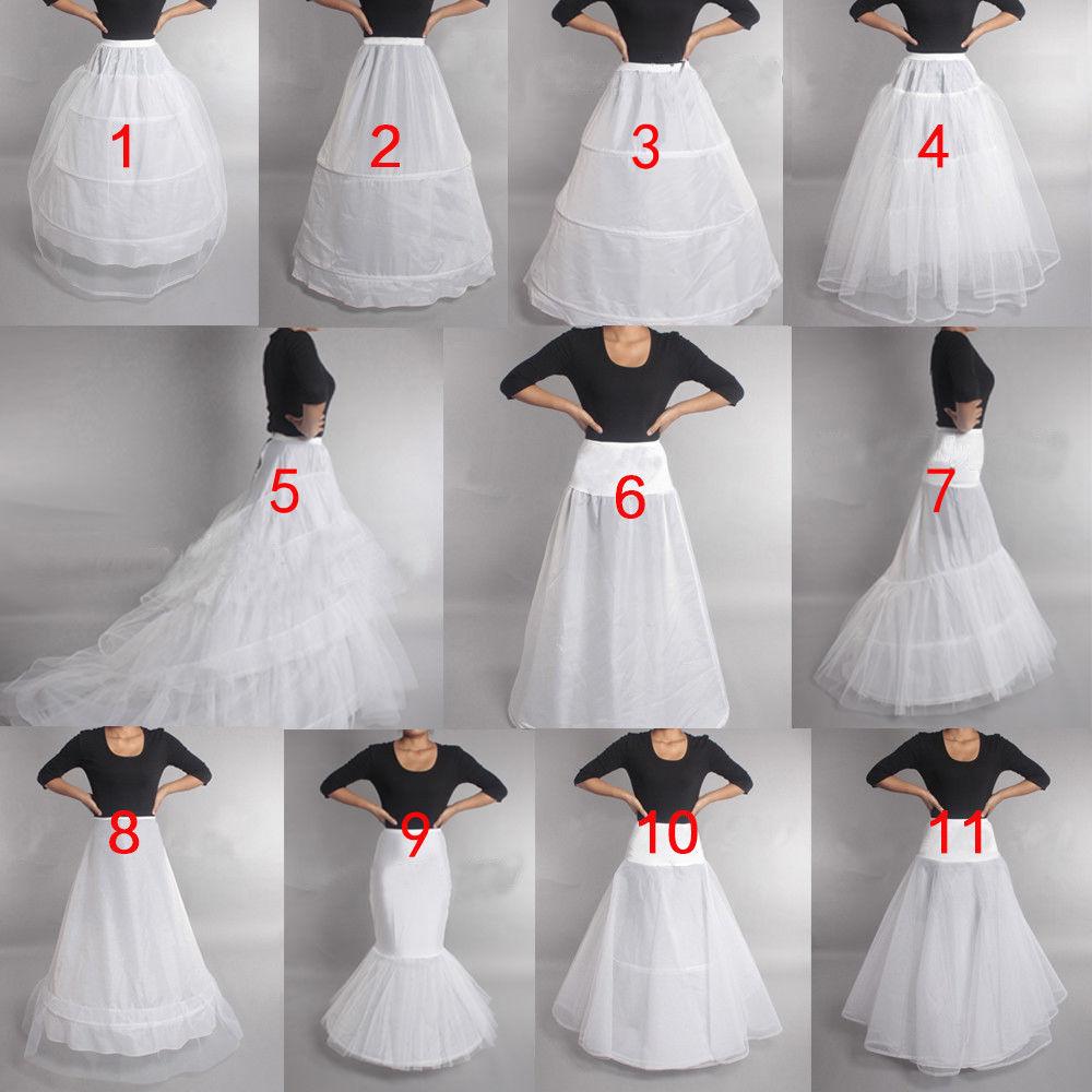 Prom Dress Bridal Slip Hoop Skirt Wedding Petticoat Underskirt Crinoline White Women Bride Wedding Accessories