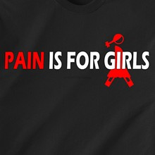 PAIN IS FOR GIRLS soccer football doctor bar drunk beer sex retro Funny T-Shirt(China)