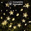 Solar Power 5M 20LEDS7M 50LEDS12M 100LEDS Star Fairy String Light Garlands Garden Christmas Wedding Decoration For Outdoor promo