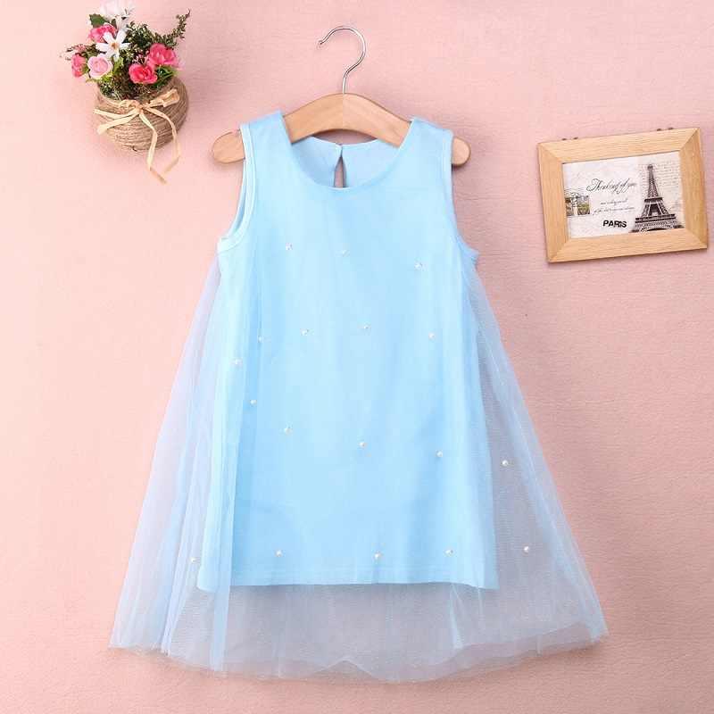 Imcute 2019 ชีฟองฤดูร้อนชุดเด็กหญิงชุดเจ้าหญิง 2-8 ปีเด็กเสื้อผ้าเด็กเสื้อผ้าสำหรับหญิง