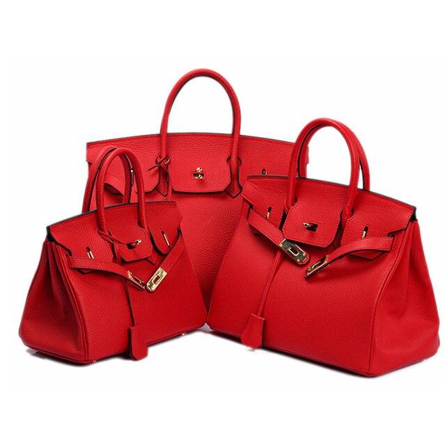 $ US $58.32 2020 Designer Handbags New Women Bags Genuine Leather Luxury Lock Crossbody Bags Famous Brands Bags For Messenger Shoulder Bags