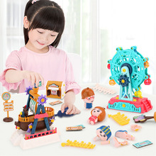DIY 3D Crafts kids Carousel Ferris Wheel Puzzle education Game Assembly Rotatable handmade Toy Gift for Children building block