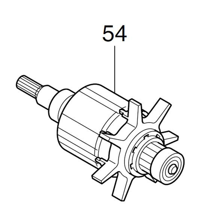AC220 240V MAKITA 619308 7 Rotor Motor Armature for BFT044FZ  BFT044F  Rotor|Electric Drills| |  - title=