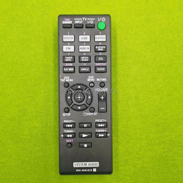 Używany oryginalny RM AMU214 zdalnego sterowania do systemu audio sony CMT SBT40D
