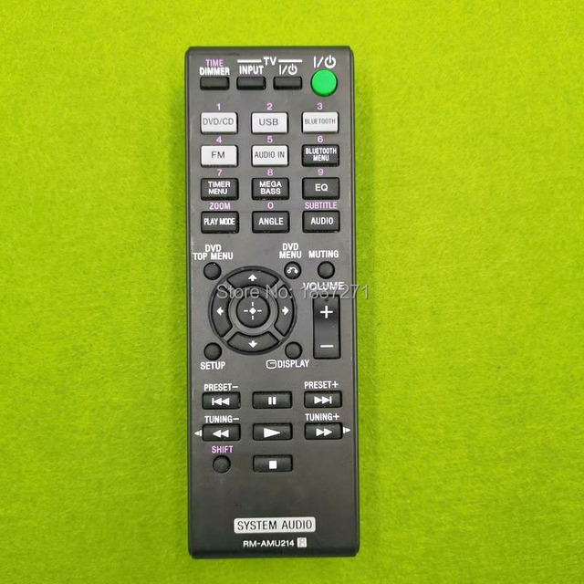 used original remote control RM AMU214  for sony CMT SBT40D system audio