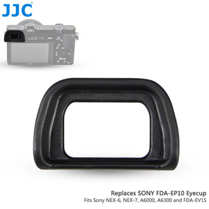 Image 1 - Jjc Zachte Oculair Eye Cup Voor Sony A6300 A6100 A6000 NEX 6 NEX 7 Vervangt FDA EP10 Oogschelp Dslr FDA EV1S Elektronische Zoeker