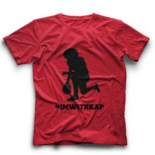 Komik t shirt erkek yenilik kadın tshirt Colin Kaepernick T shirt Kaepernick gömlek Im ile Kap bir diz protesto tee