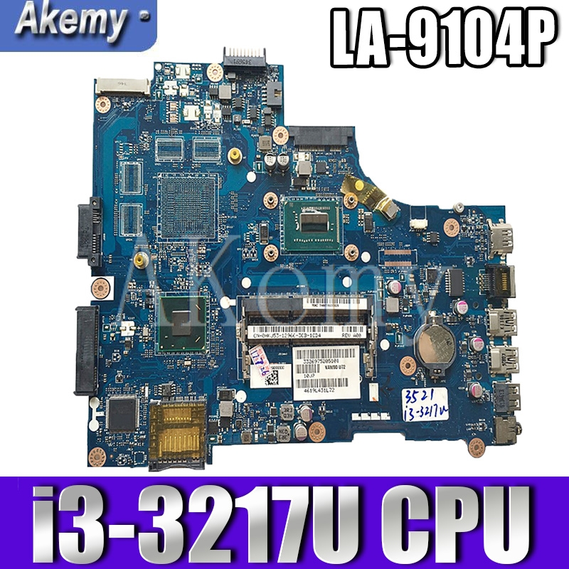 VAW11 LA-9104P For DELL Inspiron 15 3521 5521 Laptop Motherboard CN-00FTK8 LA-9104P SR0XF I3-3217CPU Original