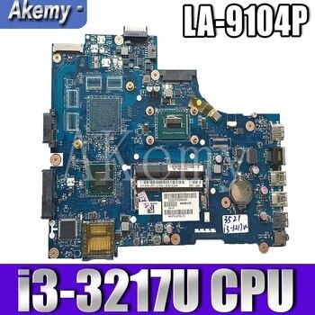 VAW11 LA-9104P para For DELL Inspiron 3521 15 5521 portátil placa base CN-00FTK8 LA-9104P SR0XF I3-3217CPU original