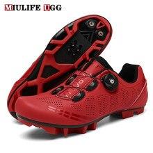 Zapatillas de ciclismo de montaña para hombre y mujer, calzado deportivo de velocidad de bicicleta de carretera, Spd, 2021