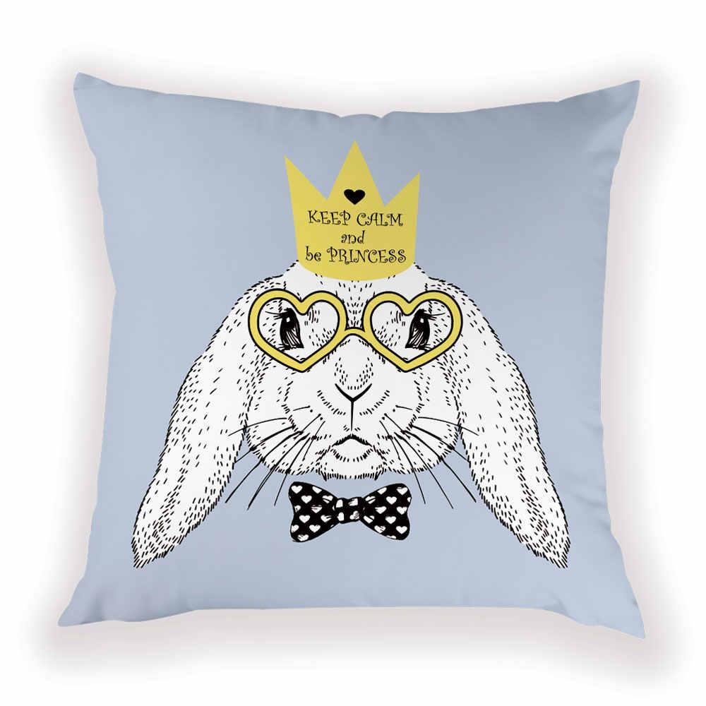 الكرتون الأرنب المخدة لطيف الأرنب شريط ديكور للمنزل رمي وسادة تغطي شخصية ل غرفة المعيشة المنزلي الوسائد غطاء