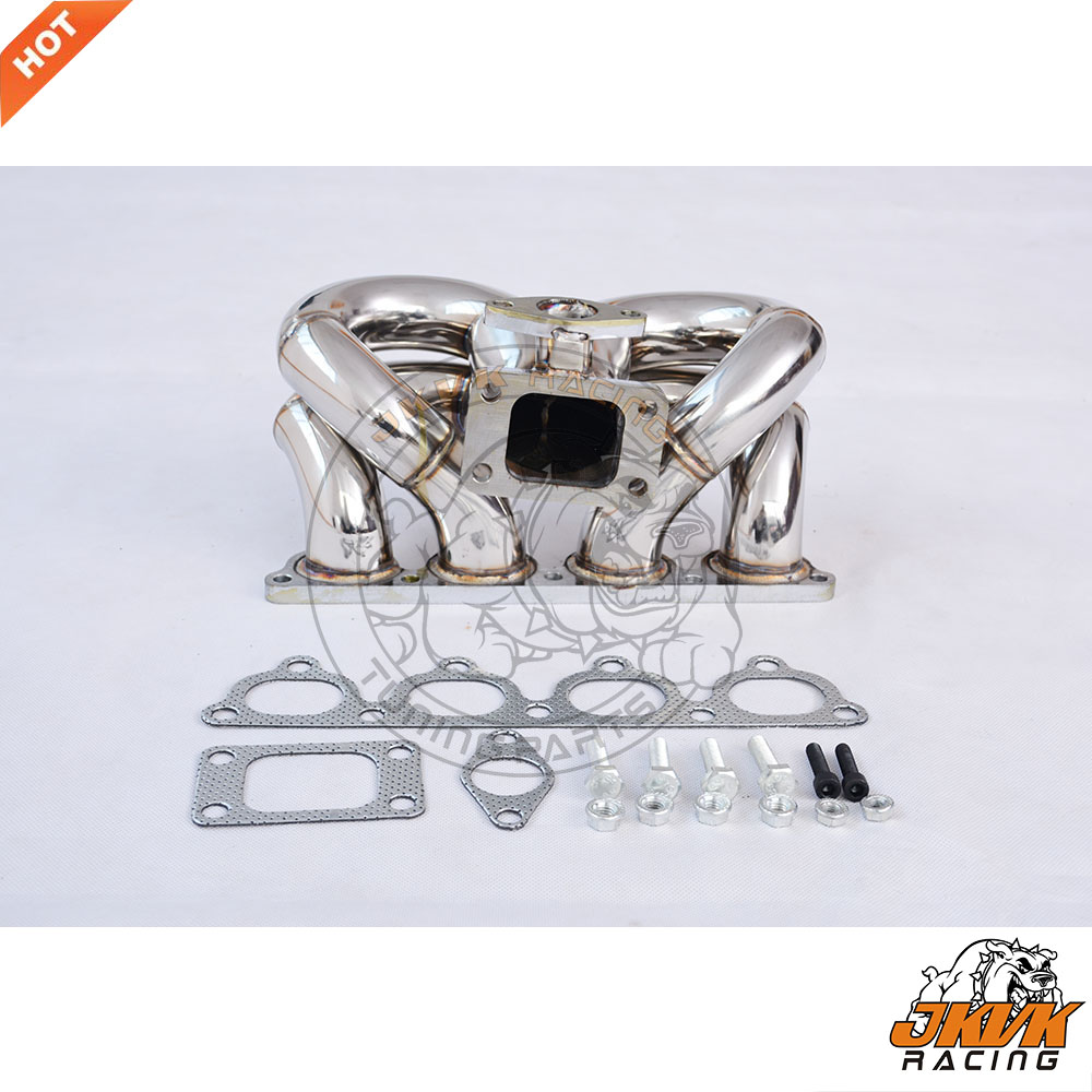 T3-Turbo-Manifold Ram-Horn D16 D15 D-Series Stainless-Steel RACING JKVK for CRX Del-Soll title=