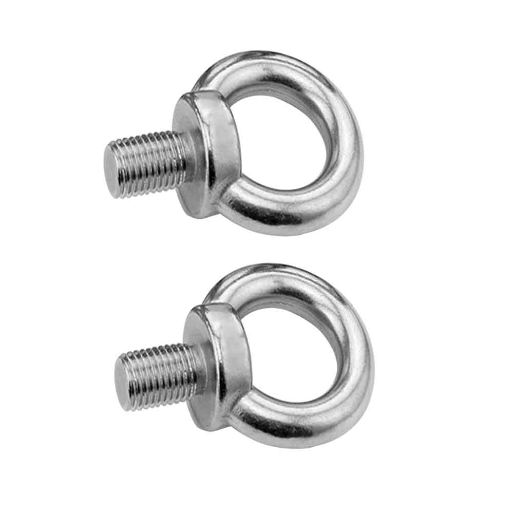 2pcs Connector Fixing Track Mount Eyelet Marine Hardware Kayak Tie Down Stainless Steel Durable Water Sports Corrosion Resistant