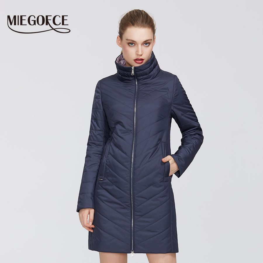 MIEGOFCE 2020 New Spring Collection From Women Coat  High-Medium Quality Firmware Resistant Collar Stylish Women Jacket Coat