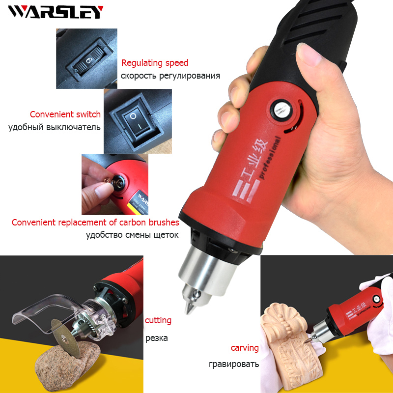 Image 2 - 480W mini high power electric drill dremel Style recorder with 6 variable speed positions for rotary tools mini grinder engraver-in Electric Drills from Tools on