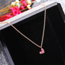 Specialyou Tiny Heart Necklace Zircon Sterling Silver for Women Fine Clavicle Chain Choker