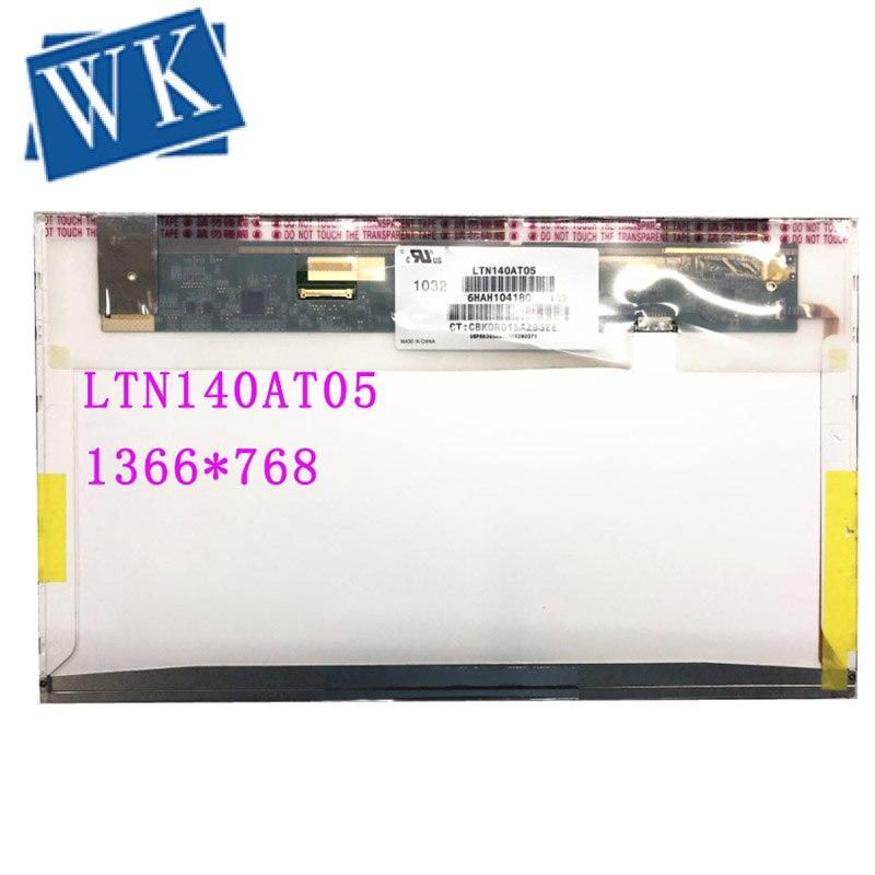 LTN140AT05 B140XW01 V4 N140B6-D11 LP140WH1-TPD1 Fit HP 8440P 8440W Laptop Lcd Screen 1366*768 EDP 30pins