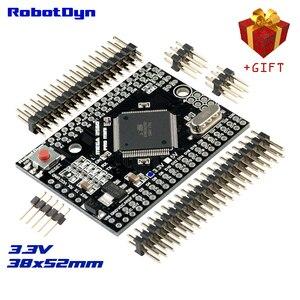 Mega 2560 pro mini 3.3 v, ATmega2560-16AU, com pinheaders masculinos. Compatível para arduino mega 2560.