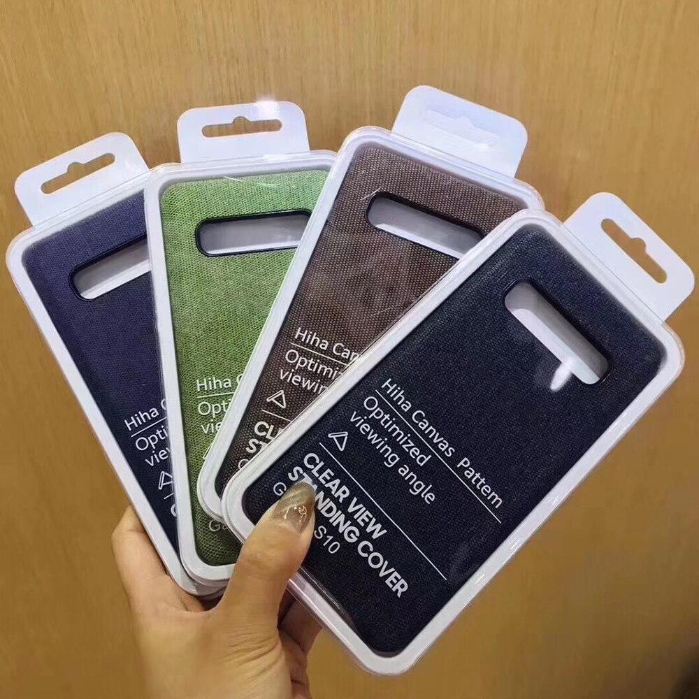 100 pièces sable grain toile coque de téléphone portable pour samsung galaxy s8 s9 s10 note9 housse de protection pour iPhone 6s 7 8 xs Max avec L0G0
