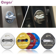 Auto-Door-Lock-Cover Lancer for Case Yes Ceyes Mitsubishi Ex-Outlander Car Badge Car-Styling