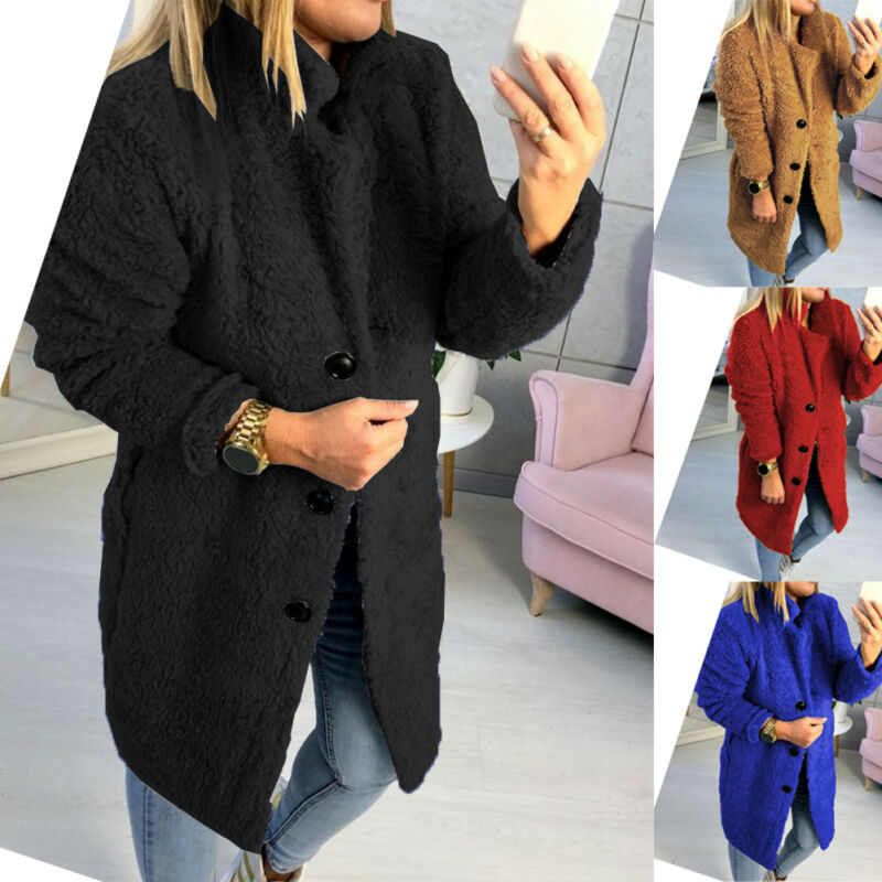 Autumn Winter Warm Clothing Female Jacket Plush Coat S-XL Thicken Faux Fur Coat Parka Overcoat  Women's Jacket Oversize Outwear