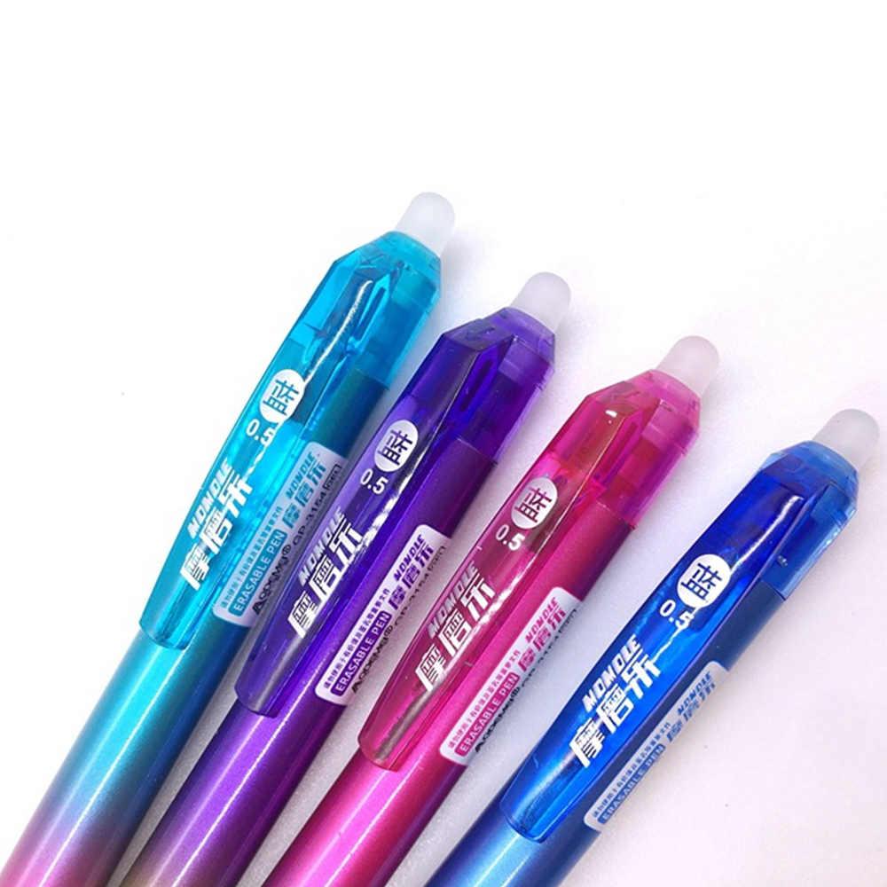 1 قطعة/بيع انبهار اللون قابل للمسح جل قطع غيار أقلام هو الأحمر الأزرق الحبر الأزرق والأسود السحرية الكتابة قلم محايد اللون القرطاسية