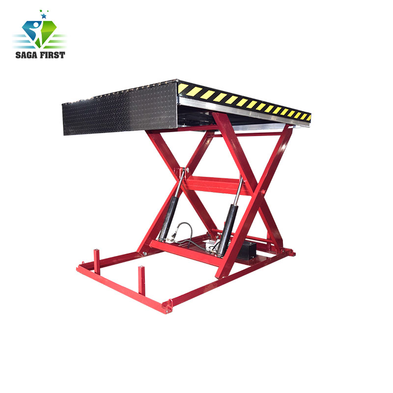 CE Certified Stationary Upright Scissor Lift Warehouse Cargo Lift