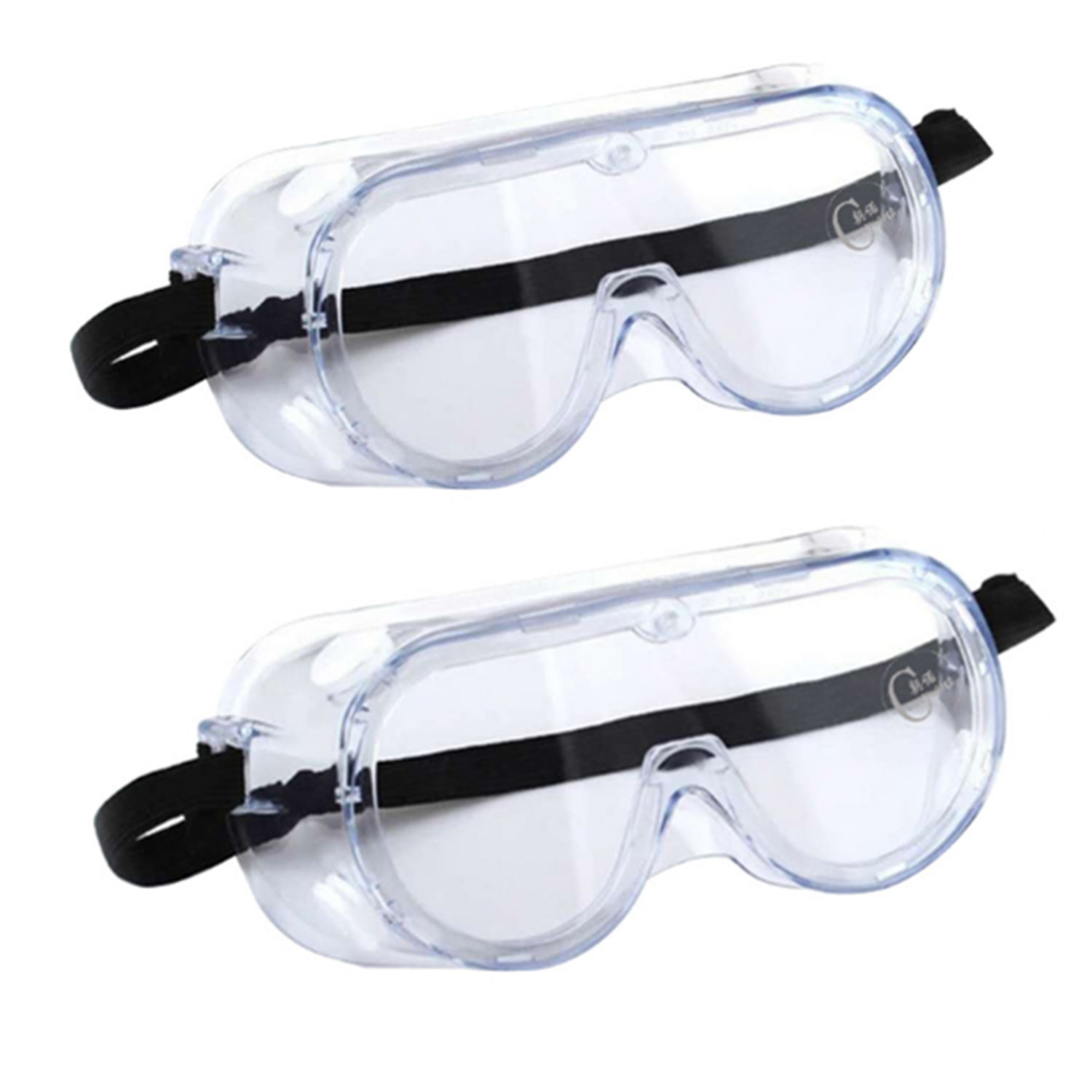 2PCS Safety Goggles Glasses Masks Protective Wide Vision Anti Dust Eye Mask Anti-Fog Splash Working Safety Goggles