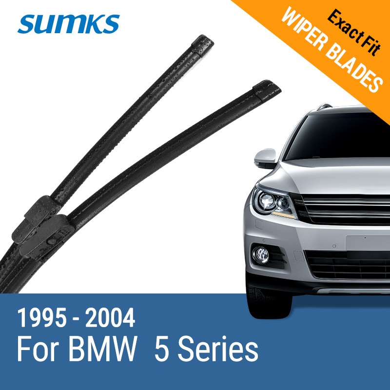 "SUMKS Wiper Blades untuk BMW 5 Series E39 / 5 Series E60 / E61 24 ""& 23"" / 26 ""& 22"" Fit pinch tab Arms / Side Latch Arm 1995 hingga 2010"