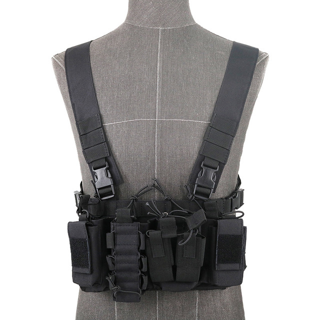 Functional Tactical Chest Bag Airsoft Hunting Vest Waist Pack Military Magazine Radio Harness Pouch Holster Army Chest Rig Bag 4