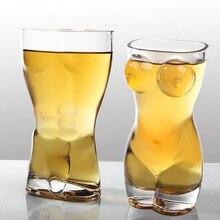Креативная секция прозрачная стеклянная кружка для пива тела Винный Бокал Кружка macho beauty shape бокал для вина
