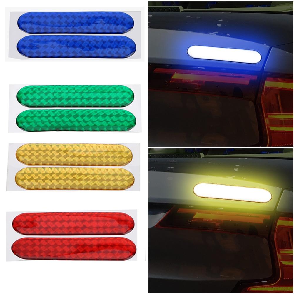 2 peças/set Faixa Reflexiva Fita de Advertência Porta Do Carro Adesivo Decalque Do Carro Adesivos Refletivos de Segurança Marca