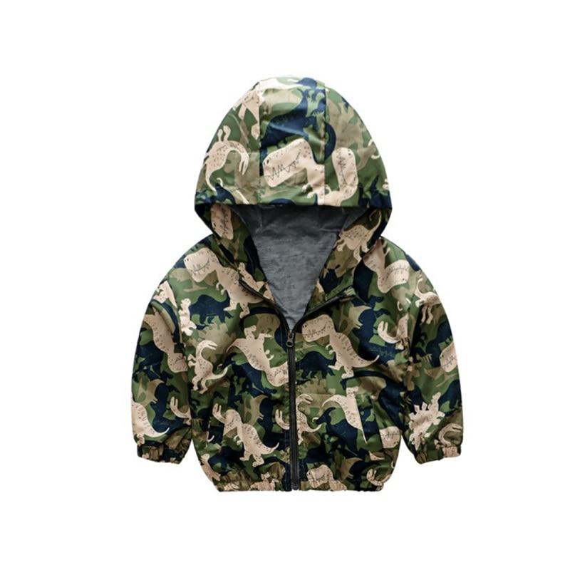 CROAL CHERIE  Fall Outerwear Coats Boys Kids Girls Jacket Cute Dinosaur Children Clothing Casual Baby Spring Jacket 80-130cm (21)