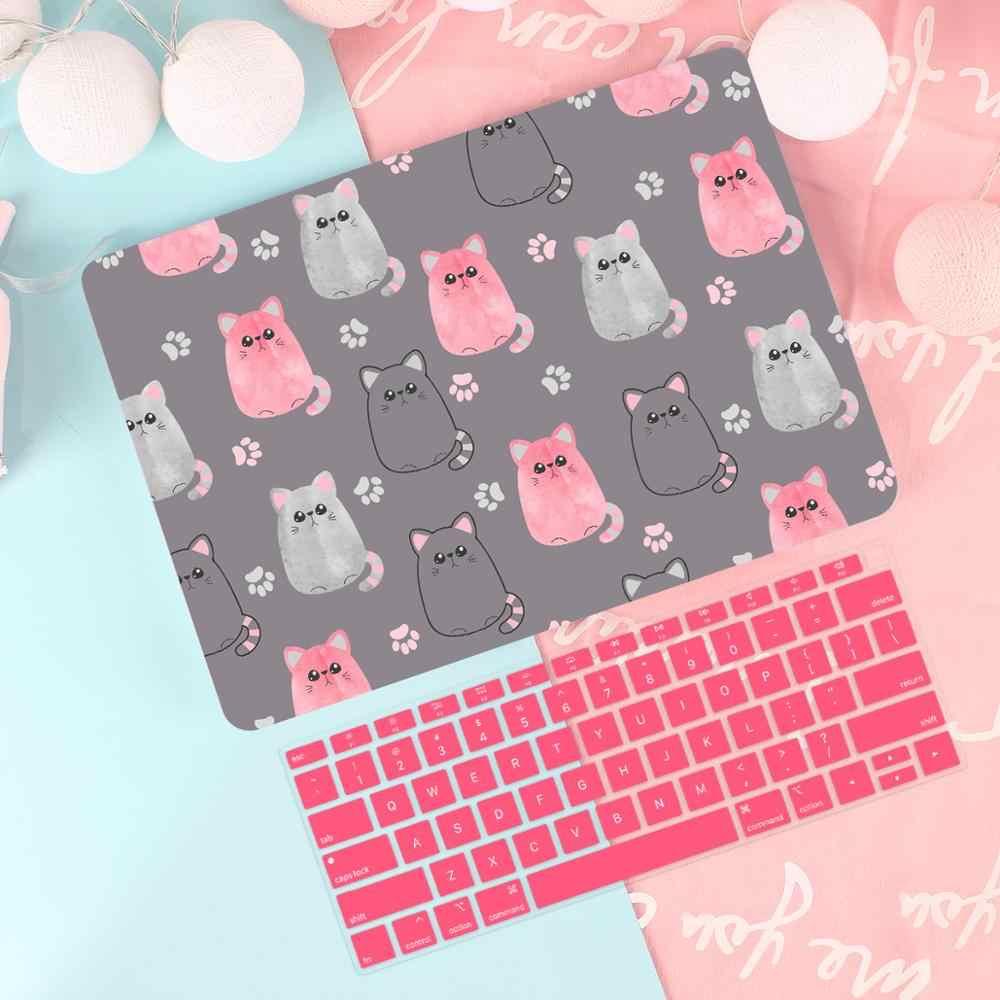 Милый чехол для ноутбука Macbook Air 13 A1932 Mac Book 2019 retina Pro 15 &quotTouch bar A2159 A90 + клавиатуры