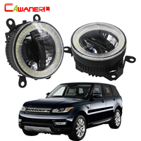 Cawanerl For Land Rover Range Rover Sport LS 2006 2013 Car Accessories LED Fog Light Bulb DRL Daytime Running Lamp Angel Eye 12V