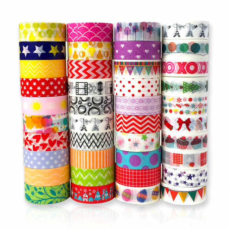1pcs Colorful Dots Washi Tape Japanese Paper DIY Planner Masking Tape Adhesive Tapes Stickers Decorative Stationery Tapes