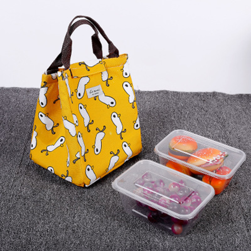 New Arrival Creative Travel Portable Lunch Bag Waterproof Men Women Student Lunch Box Thermo Bag Office School Picnic Cooler Bag