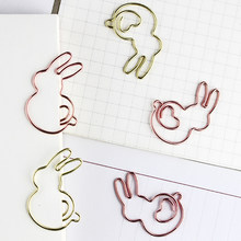 Nieuwe Konijn Paperclip Cartoon Metalen Clip Pin Vormige Paperclip Decoratieve Pin Planner Clips Leuke Clip Leuke Papier Clips Decoratieve(China)